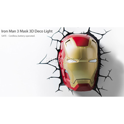 [3D0011] 아이언맨3 마스크 3D 데코 라이트 등 (IRON MAN 3 MASK 3D DECO LIGHT)