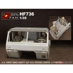 1/35 U.S. Army M983 Hemtt OIF ACU Driver Crews - 2 Figures