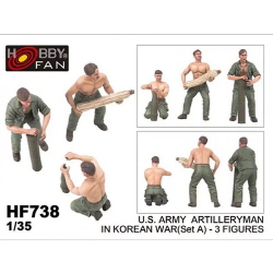 1/35 U.S. Army Artilleryman in Korean War (Set A) (3 Figures)