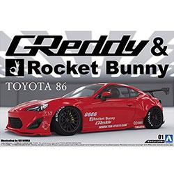 [튠드카01] 1/24 ZN6 TOYOTA 86 '12 GREDDY&ROCKET BUNNY ENKEI Ver.