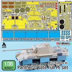 [에칭] 1/35 Panther G late Full PE detail up set (for 1/35 Academy kit)