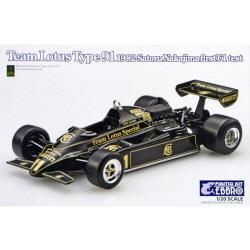 1/20 Team Lotus Type 91 1983 Satoru Nakajima first F1 test
