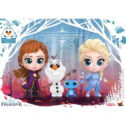 [완성품][코스베이비] 겨울왕국2: 엘사,안나,올라프,살라만더 세트 (Frozen 2 : Elsa, Anna, Olaf, and Salamander Cosbaby (S) Collectible Set)(전고:약115mm)