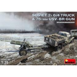 1/35 Soviet 2t 6x4 Truck w/ 76 mm USV-BR Gun
