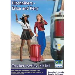 1/24 Truckers series. Hitchhikers, Erica&Kery