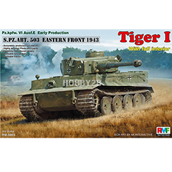 1/35 Pz.kfw.VI Ausf. Tiger I Early Production (s.Pz.Abt.503 Eastern Front 1943) w/Full Interior & Workable Tracks (내부재현)