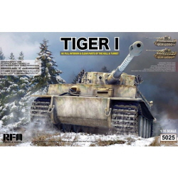 1/35 German Tiger I Early Wittman Version,Full Interior w/Workable Tracks w/Bonus Clear Upper Hull & Turret
