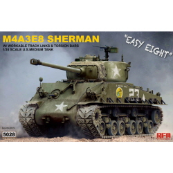 1/35 U.S. M4A3E8 Sherman Easy Eight w/Workable Tracks