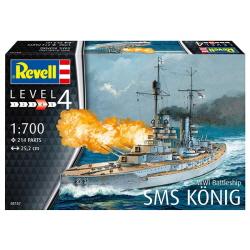 1/700 WWI Battleship SMS KONIG