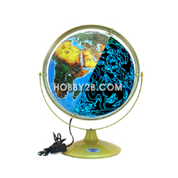 위성 영상 별 지구의(지구본) (직경: 320mm, 밑받침: 철, LED)
