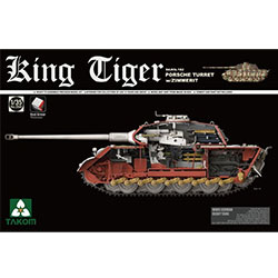 1/35 WWII German Heavy Tank Sd.Kfz.182 King Tiger Porsche Turret w/Zimmerit