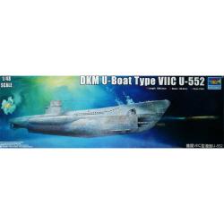 1/48 DKM U-Boat Type VIIC U-552 w/Interior