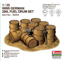 1/35 WWII German 200L Fuel Drum Set