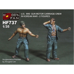 1/35 U.S. M40 Gun Motor Carriage Crew in Korean War (2 Figures)