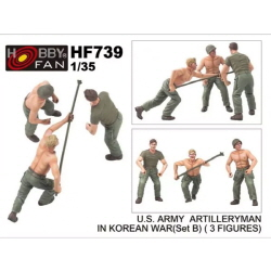 1/35 U.S. Army Artilleryman in Korean War (Set B) (3 Figures)