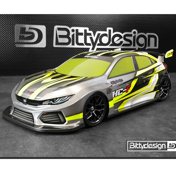 BITTY DESIGN - HC-F, 1/10 FWD 190mm for Front Wheel Drive Car (Clear), BITTY DESIGN