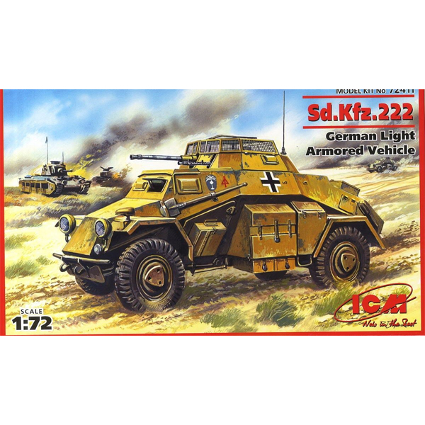 1/72 Sd.Kfz.222, German Light Armoured Vehicle, ICM