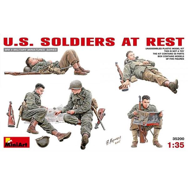 1/35 U.S. SOLDIERS AT REST, MINI ART