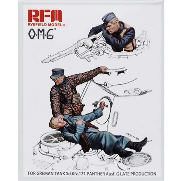 1/35 Panther Crew 3 Resin Figures, RYE FIELD MODEL