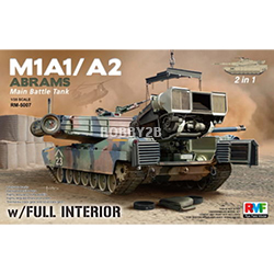 1/35 M1A1/A2 Abrams w/Full Interior & Workable Tracks 2 in 1