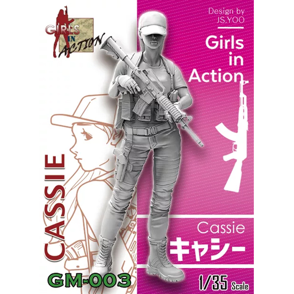 1/35 Cassie (GIRLS IN ACTION, 레진피규어), ZLPLA
