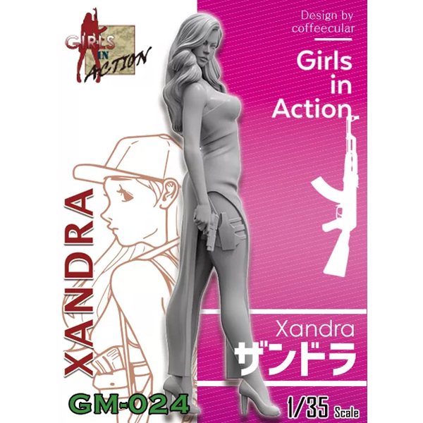 1/35 Xandra (GIRLS IN ACTION, 레진피규어), ZLPLA